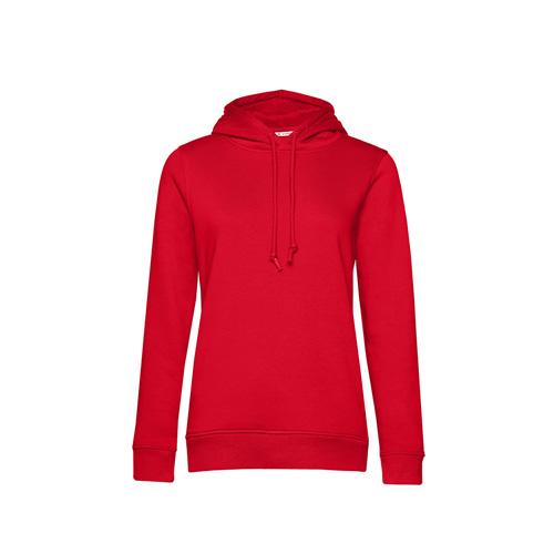 Basic hoodie organisch rood