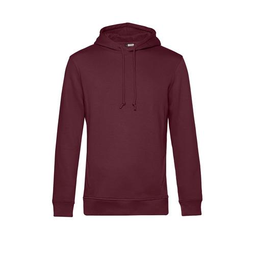 Basic hoodie organisch unisex bordeaux rood