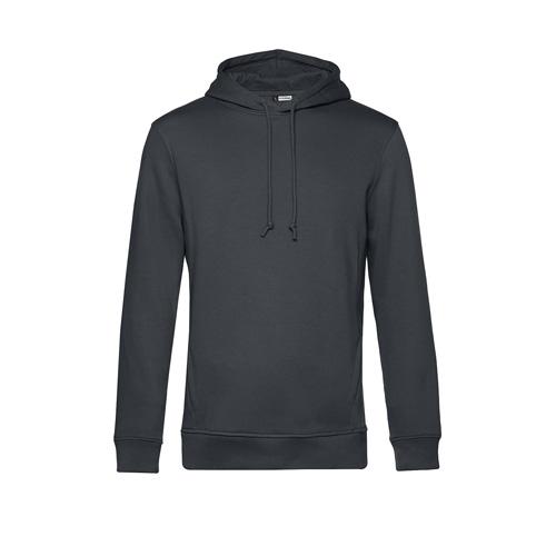 Basic hoodie organisch unisex donkergrijs