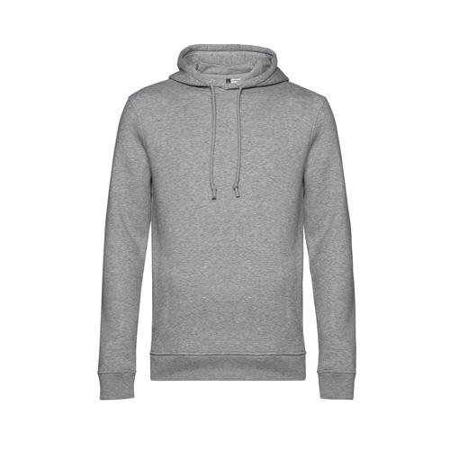 Basic hoodie organisch unisex grijs