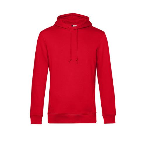 Basic hoodie organisch unisex rood