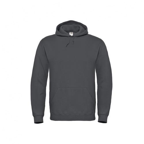 Basic-hoodie-unisex-donkergrijs