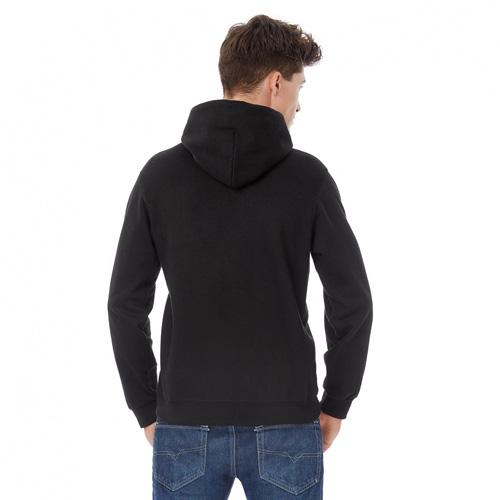 Basic-hoodie-unisex-zwart-achterkant