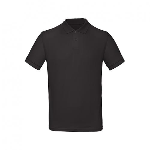 Basic polo organisch zwart