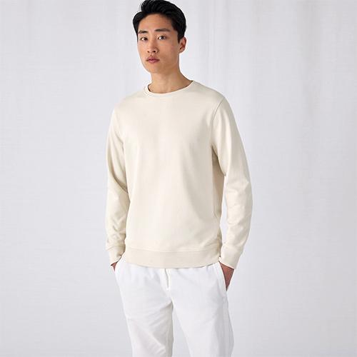 Basic sweater organisch bedrukken