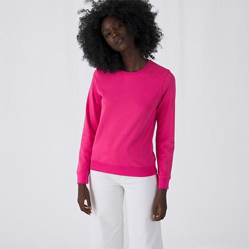 Basic sweater organisch dames bedrukken