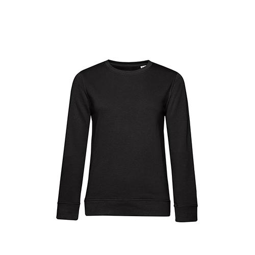 Basic sweater organisch dames zwart