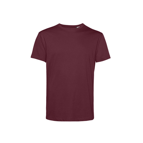 Basic t-shirt organisch bordeaux rood