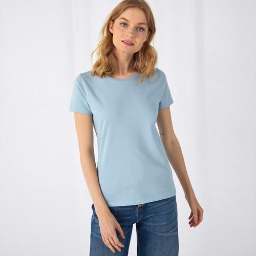 Basic t-shirt organisch dames bedrukken