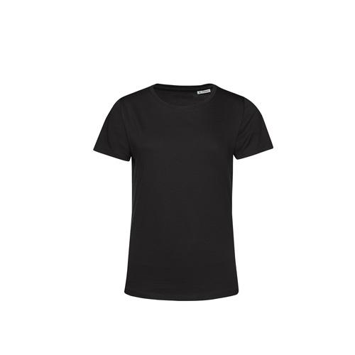 Basic t-shirt organisch dames zwart
