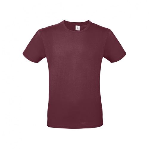 Budget t-shirt bordeaux rood