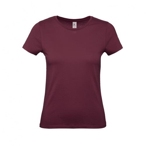 Budget t-shirt dames bordeaux rood