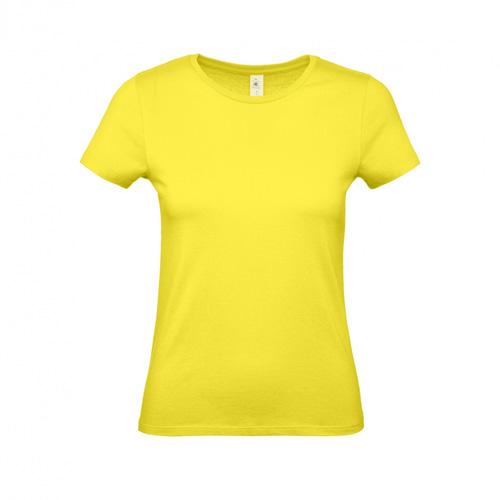 Budget t-shirt dames geel