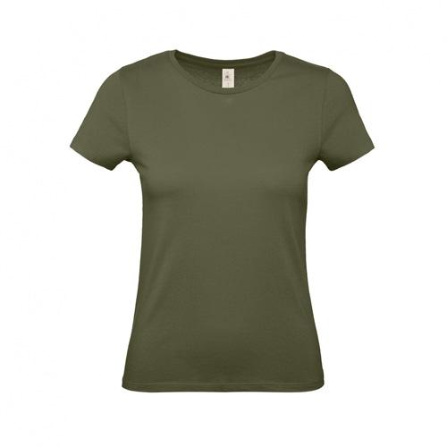 Budget t-shirt dames legergroen