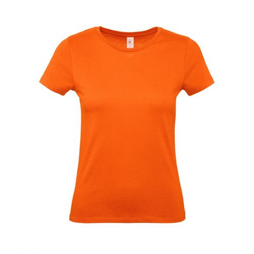 Budget t-shirt dames oranje
