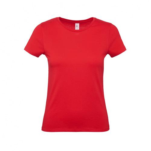 Budget t-shirt dames rood