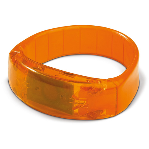 Knipperend LED armbandje oranje