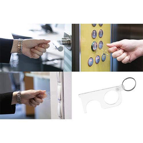 No touch key hygiene sleutel sfeer