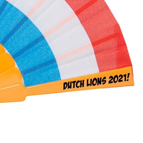 Oranje Holland waaiers bedrukken drukpositie