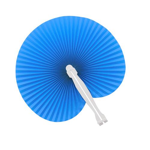 Papieren waaiers bedrukken blauw