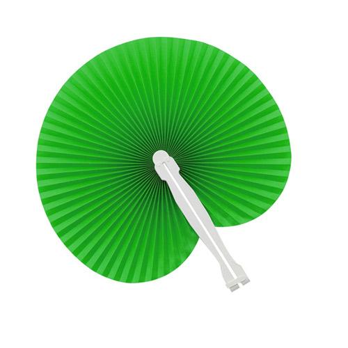 Papieren waaiers bedrukken groen
