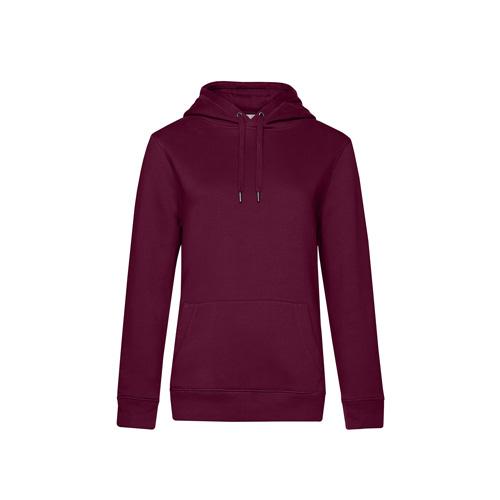 Premium hoodie dames bordeaux rood
