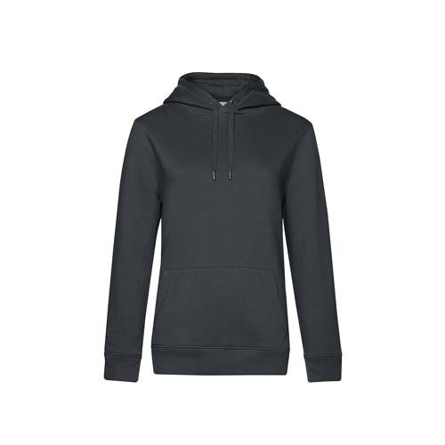 Premium hoodie dames donkergrijs