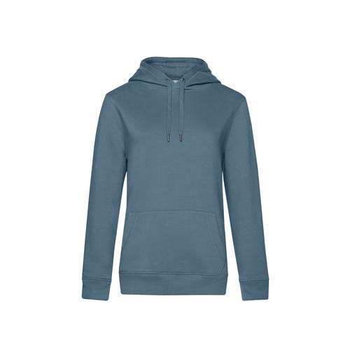 Premium hoodie dames grijs blauw