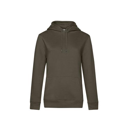 Premium hoodie dames legergroen
