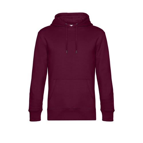 Premium hoodie unisex bordeaux rood
