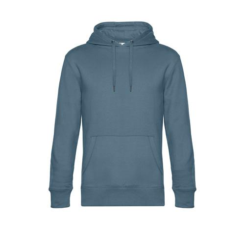 Premium hoodie unisex grijs blauw