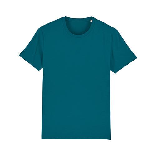 Premium t-shirt biologisch blauw groen