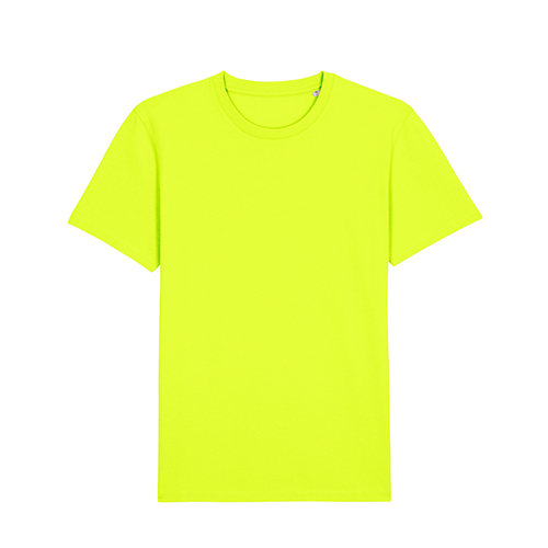 Premium t-shirt biologisch fluor geel