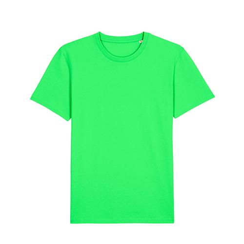 Premium t-shirt biologisch fluor groen
