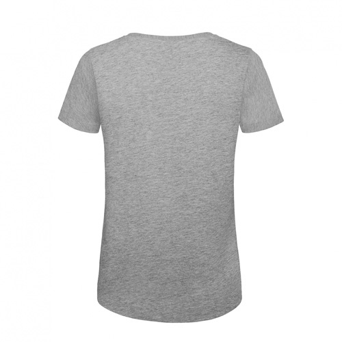 T-shirt biologisch dames heather grijs achterkant