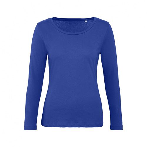 T-shirt longsleeve dames blauw