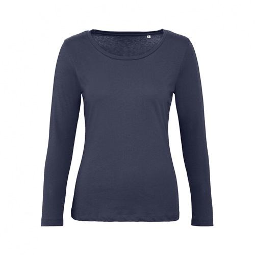 T-shirt longsleeve dames donkerblauw