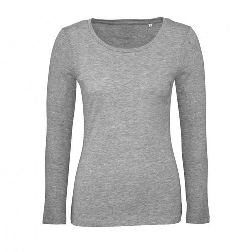 T-shirt longsleeve dames grijs