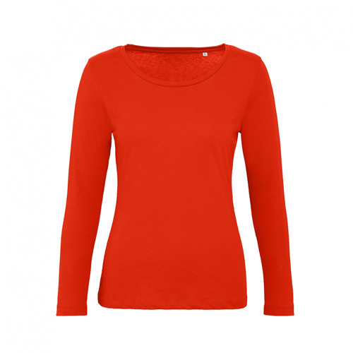 T-shirt longsleeve dames rood