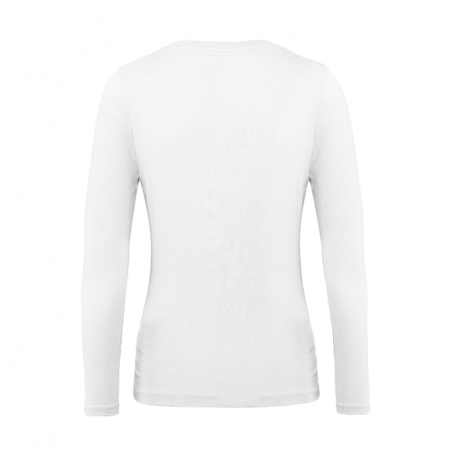 T-shirt longsleeve dames wit achterkant