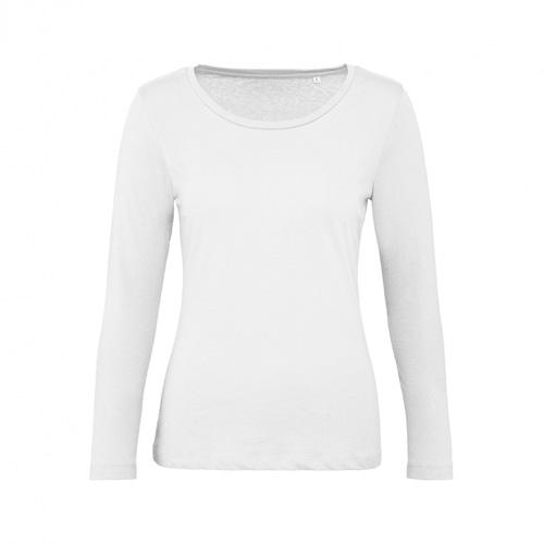 T-shirt longsleeve dames wit