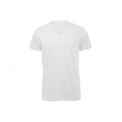V hals t-shirt biologisch wit