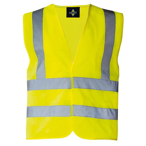 Veiligheidshesje voorkant geel