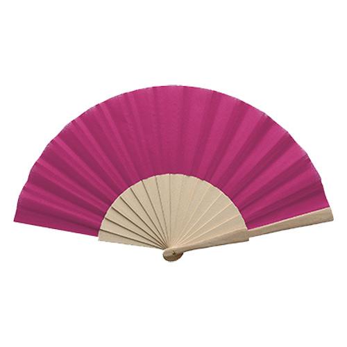 Waaiers bedrukken houten handvat roze
