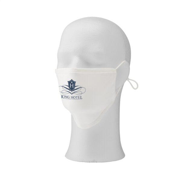 Premium mondmasker katoen wit zijkant
