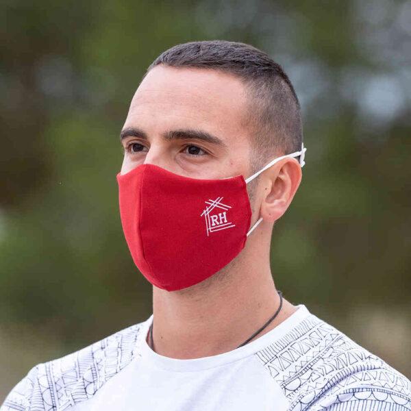 Luxe mondkapje rood sfeerfoto