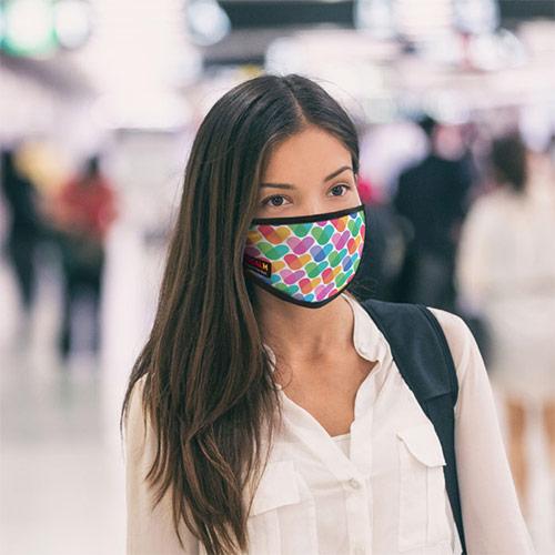 Wasbaar mondkapje full color bedrukken