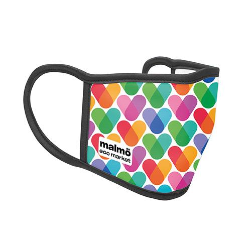 Wasbaar mondkapje full color logo
