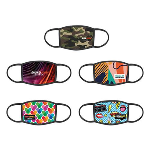 Wasbaar mondkapje full color voorbeelden