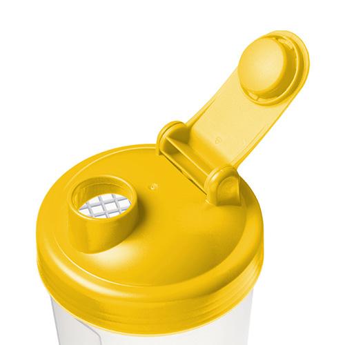 Shakebeker geel dop 600ml